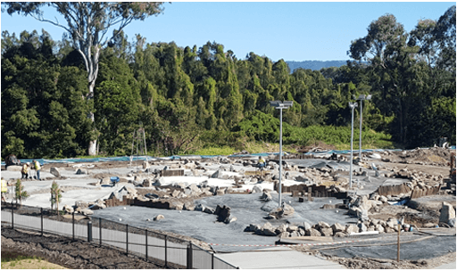 mini golf course construction carrara-qld