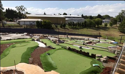 mini golf course construction tooboomba-qld